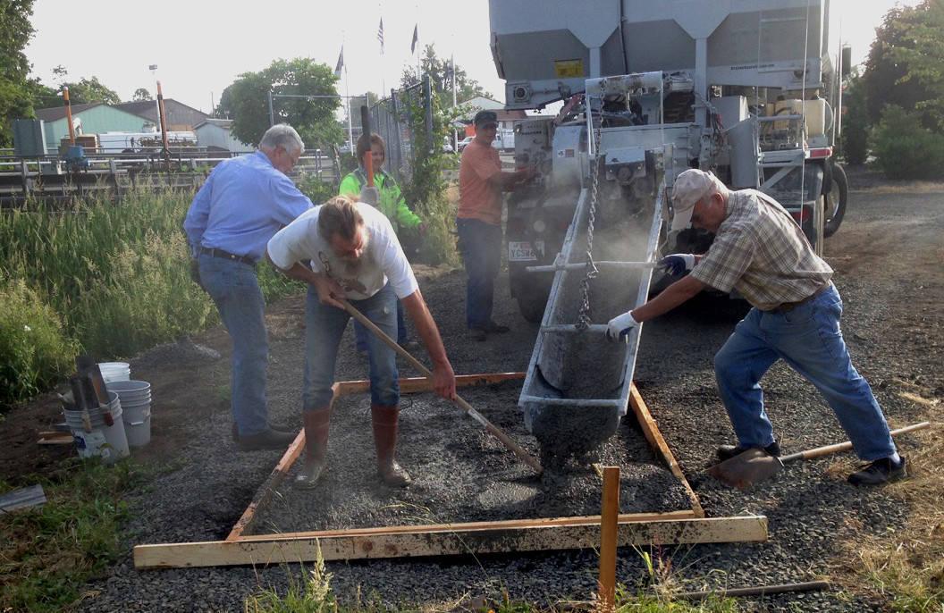 The BLT volunteer concrete brigade