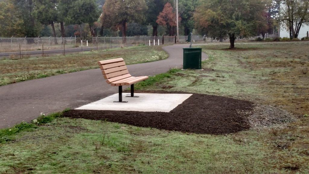 Handsome new bench
