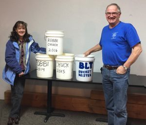 Robbi and Jim with their winning buckets