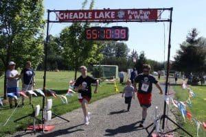 Photo of 2016 Cheadle Lake Run finish line