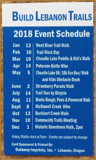 2018 BLT Event Calendar