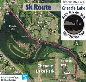 2018 Cheadle Lake Run 5k route
