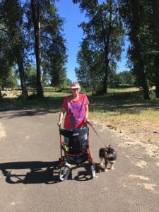 Photo of Elaine and Rocky on Marks Slough Trail