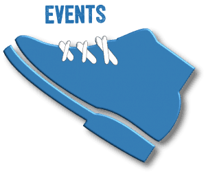 Events icon with shoe