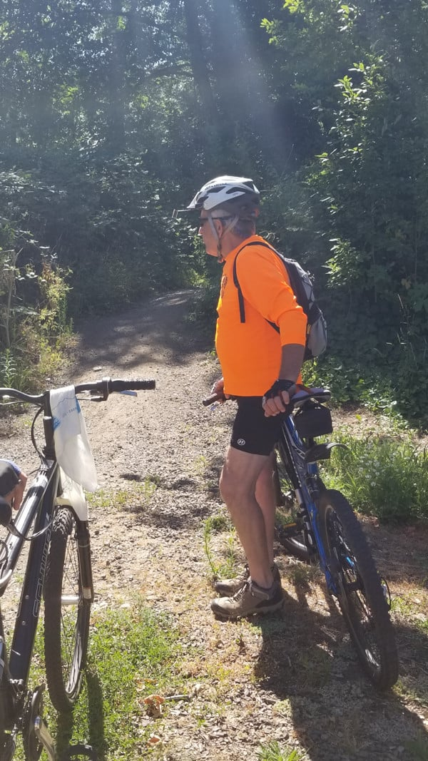 Rod Sell leading bike tour event 2018