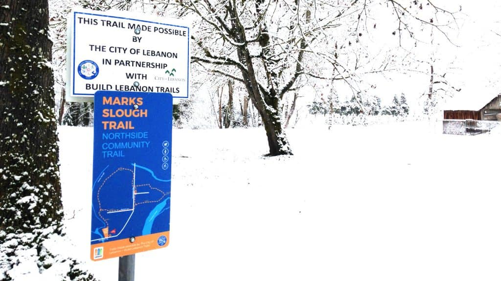 2019-02-10 Marks Slough sign in snow