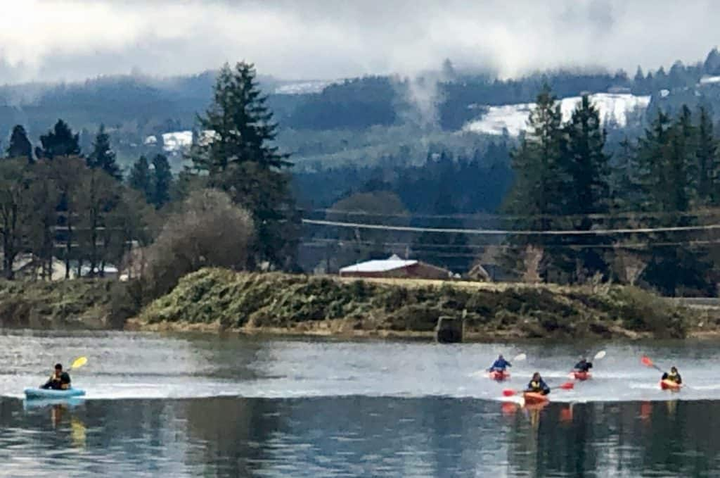 2019-03-09 Cheadle Lake paddlers return