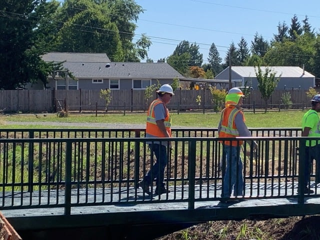 Bridges placed at Cheadle Lake August 27, 2019