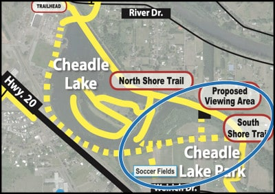 Map of the Cheadle Lake South Shore Trail