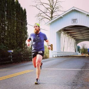 Trevor Spangle running Larwood bridge