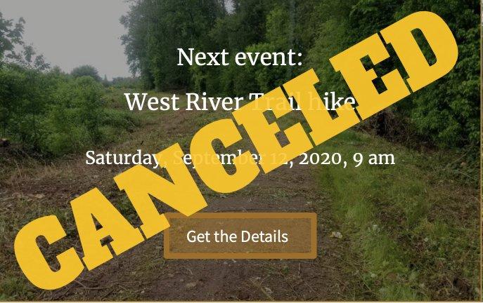 Canceled event for September 12, 2020