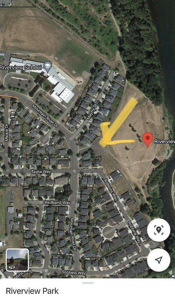 Riverview Park and parking lot