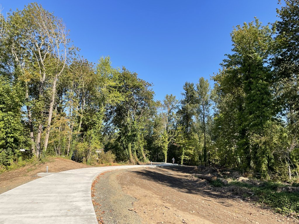 Nearly complete Old Mill Trail in Lebanon, Oregon